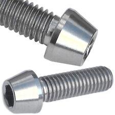 6 Titanium Bolts TAPER HEAD Stem Bolts M5 x 16mm Fit Carbon Road  MTB Handlebars