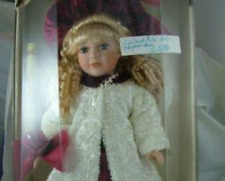 Mint Collector's Choice, Beautiful Blonde Doll in Burgundy w/White Chenille Coat