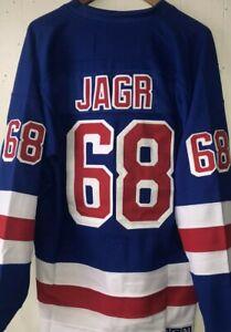 NWT Jaromir Jagr New York Rangers Throwback Jersey - Sweater Blue #68 Size 3XL