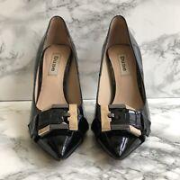 Dune Heels Black Patent Leather Heels Size UK 3 EU 36 Stiletto