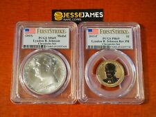 2015 P REVERSE PROOF LYNDON JOHNSON DOLLAR PCGS PR69 MS69 COIN CHRONICLES SET FS