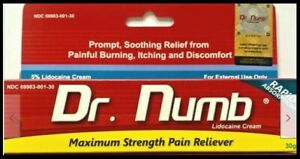 30 g Dr Numb, 6 tubes for $120.00