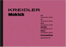 Kreidler Florett LH LF-F RM RMC-B Ersatzteilliste Ersatzteilkatalog Teilekatalog