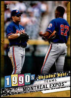 Montreal Expos 2020 Topps Decade's Best Series 2 5x7 Gold #DB-72 /10