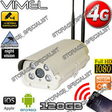 4G Wireless Security Camera 120GB GSM Alarm Farm Live View Outdoor Phone 3G