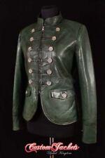 Manteaux et vestes vertes en cuir pour femme