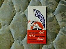 1962 CINCINNATI REDS MEDIA GUIDE Yearbook 1961 WORLD SERIES Program ROSTER AD