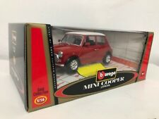 NEW Bburago 1:16 Gold Collection Mini Cooper 1960 Red with White Roof Car Model