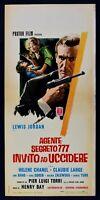 Cartel Agente Secreto 777 Invitación Ad Matar 1967 Lewis Jordan, Helene L32