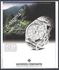 VACHERON CONSTANTIN Chronographe Overseas watch - 2004 Print Ad