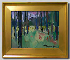 JOSE TRUJILLO Oil Painting Modern Impressionist WOODS WOODLAND CONTEMPORARY ART