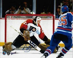 Autographed Philadelphia Flyers Ron Hextall Goalie 8x10 Photo #2 Original