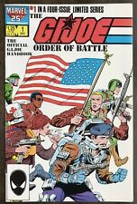 G.I. Joe Order of Battle #1 9.2 NM- Marvel (1987) Unlimited Shipping just $3.99