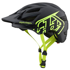 2020 TROY LEE DESIGNS TLD ADULT BLACK FLO YELLOW A1 DRONE MTB HELMET MEDIUM M/L