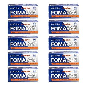 10 Rolls x FOMAPAN 200 Profi Line Creative 120 Medium Format B&W Film by FOMA