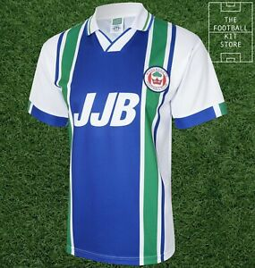 Wigan 1995 Home Shirt Mens - Official Score Draw Retro Latics Jersey - All Sizes