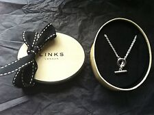 Original Links of London Plata Esterlina 16 in (approx. 40.64 cm) T Bar Collar Cadena Nuevo Y En Caja + Bolsa