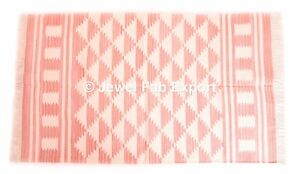 Indian Rug Kilim Mat Floor Pray 100% Cotton Carpet 3x5 Ft Handmade Area Rug