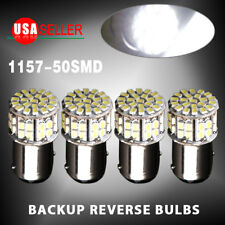 4x 6000K White 1157 BAY15D 50-SMD LED Tail Stop Brake Light Bulbs 7528 12V