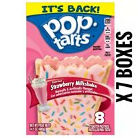 Pop Tarts Frosted Strawberry Milkshake 8 Count x 7 Boxes Exp 11/19