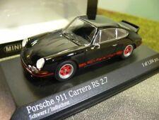 1/43 Minichamps Porsche 911 Carrera RS 2.7 1972 schwarz /rot 400 065521
