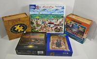 Lot Of 5 Assorted Puzzles Ceaco Dowdle White Mountain 500, 750, 1000 Pieces