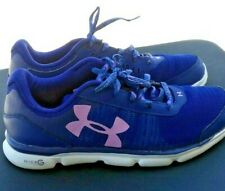 Girls Shoes Under Armour Youth size 5 shoes Blue Micro G Speed Swift Running