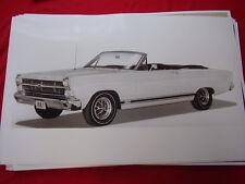 1967 FORD FAIRLANE GTA CONVERTIBLE  11 X 17  PHOTO PICTURE