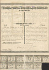 The California (Mexico) Land Company Limited > 1888 land certificate