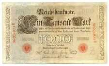 Germany Empire Imperial Reichsbanknote 1000 Mark 1898 Vf #18