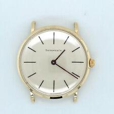 Tiffany & Co. Vintage 1960s 14k Solid Gold Manual Wind 32mm Swiss Watch Mint