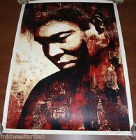 Signed Shepard Fairey Art Print Muhammad Ali Poster S/# 450 Boxing Obey Giant