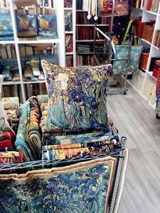 Cushion cover Van Gogh Iris Tapestry Decorative France 14x14 NEW
