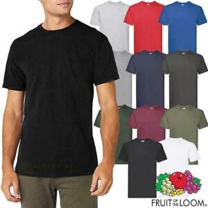 Fruit of the Loom Super Premium T Shirt Heavy Cotton Mens Plain Short Tee S-5XL