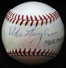 "Eddie Sawyer d.97 ""Whiz Kids"" Philadelphia Phillies PSA/DNA Autographed Baseball"