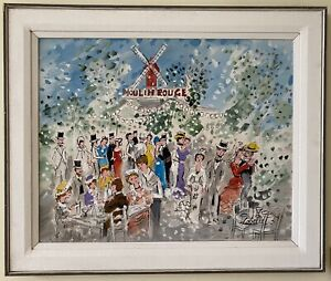 Charles Cobelle Sensational Original Oil Moulin Rouge