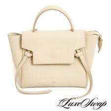 LNWOT Celine Paris Made in Italy Cream Pebblegrain Grained Leather Belt Bag WOW