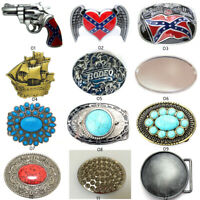 Fashion Classic Western Cowboy Turquoise Metal Belt Buckle For Mens Leather Belt