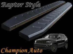 Jeep Grand Cherokee Side Steps 2011-2020 Black Powder Coated Steel(Raptor Style)