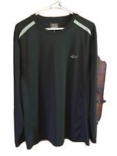 Greg Norman For Tasso Elba Mens Xl Black Long Sleeve Shirt RapiDry Polyester