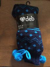 Deb Store Navy Pattern Knee High Socks Retail $10.00