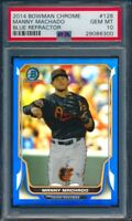 2014 Bowman Chrome Manny Machado Blue Refractor #205/250 PSA 10 Gem Mint #6300