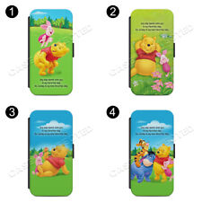 WINNIE THE POOH PIGLET RUBBER Flip Wallet Phone Case Cover All iPhone & Samsung