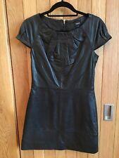 Beautiful Oasis Black Butter Soft Leather Mini Dress, Sz XS, BNWT
