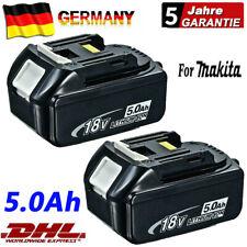 2X 5AH for Makita Genuine Spare Battery BL1860 Li-ion 18V 5,0 AH BL1850 BL1830 L...