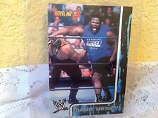 WWE MARK HENRY RUMBLE 2002 FLEER COLLECTOR TRADING CARD #18 & HOLDER
