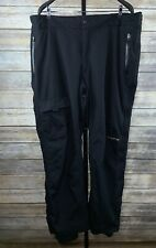 Men's COLUMBIA Titanium Snow Ski Snowboard Black Pants Sz 2XL XXL Nylon