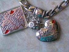 "~Brighton Bracelet Bracelet ""Cover Girl"" Charms w Swarovski crystal Nwt!~"