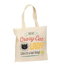 Crazy Cat Lady New Lightweight Cotton Tote Book Bag Gifts Events