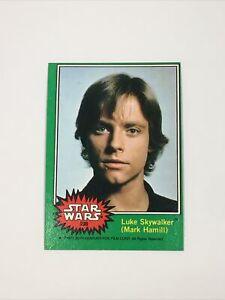 Nice! Star Wars Series 4 (Green) Topps 1977 Trading Card #235 Luke Skywalker